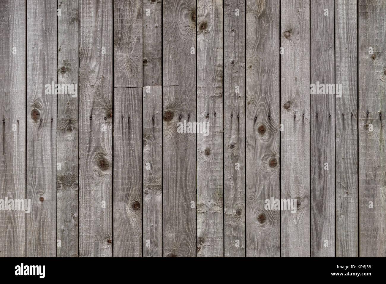 greying wood wall - Stock Image