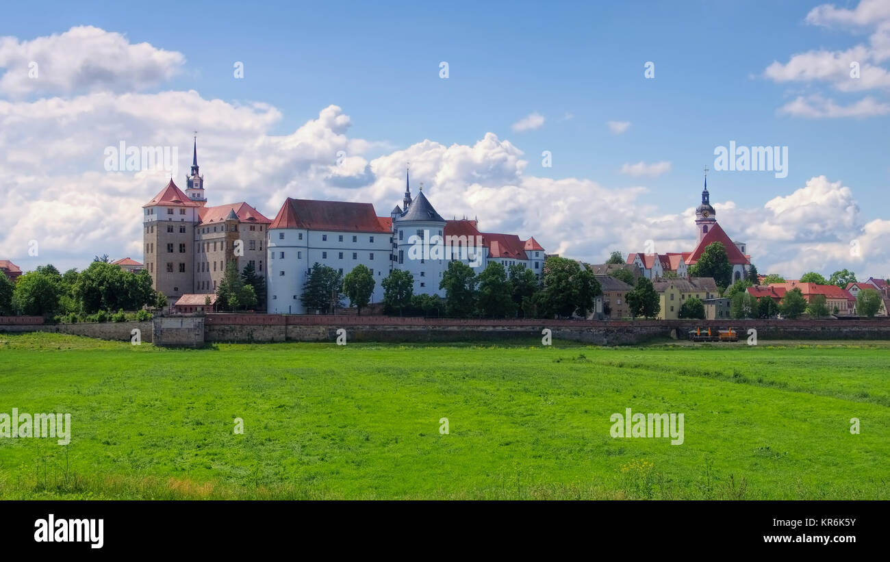 torgau castle hartenfels - hartenfels castle in torgau,saxony Stock Photo
