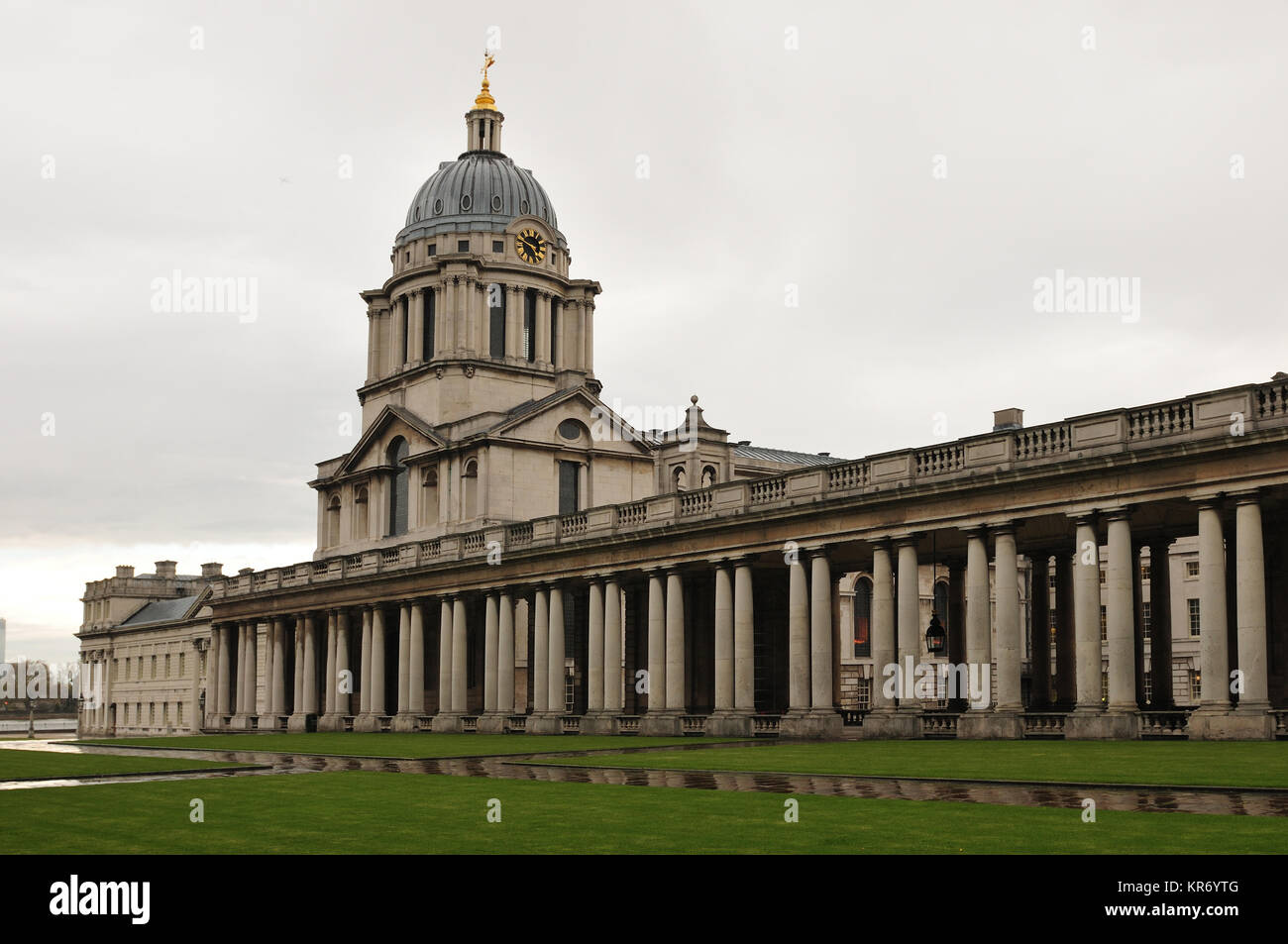 royal naval college in greenwich in london stadteil - Stock Image