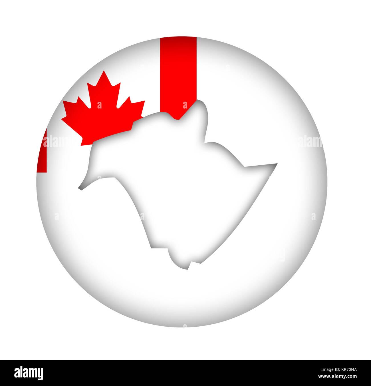 Map Of Canada New Brunswick.Canada New Brunswick State Map Flag Button Stock Photo 169184662