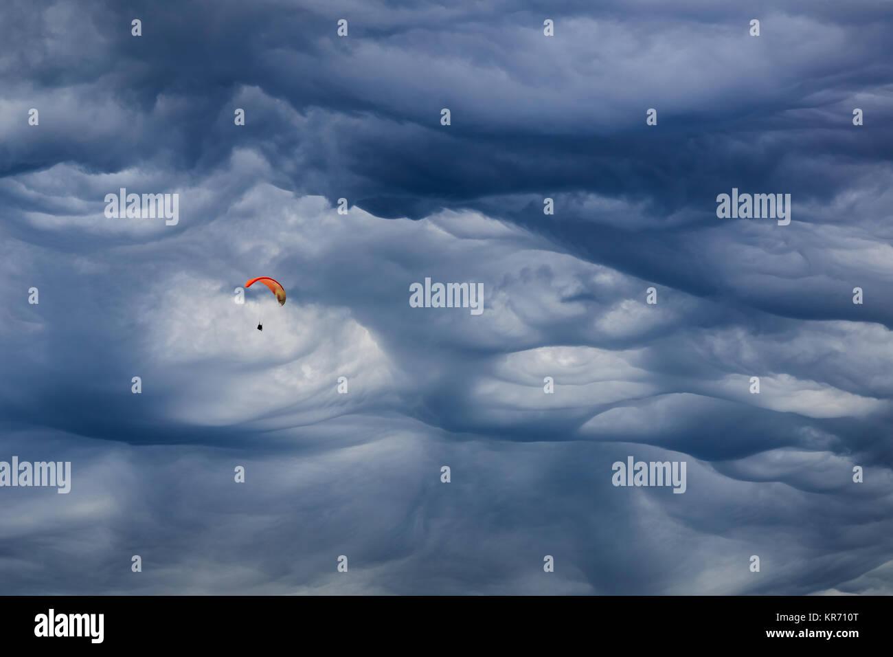 Mammatus cloud - Stock Image