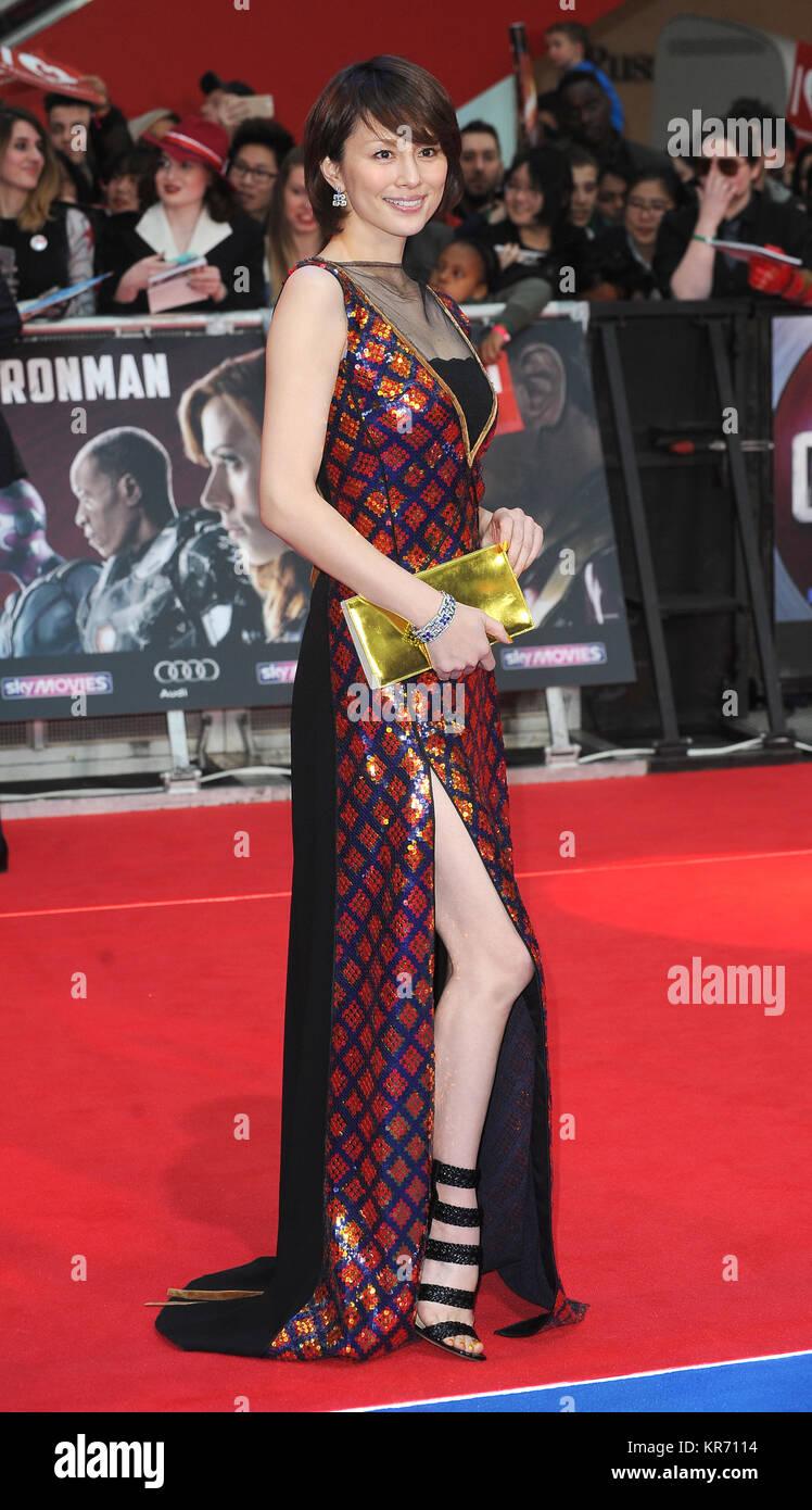 Ryoko Yonekura attends the European premiere of Captain America: Civil War at Westfield Shopping Centre in London. - Stock Image