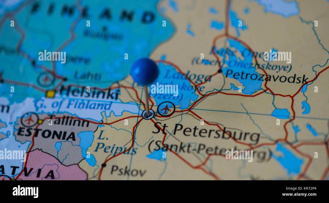 Map Of St Petersburg Stock Photos Map Of St Petersburg Stock