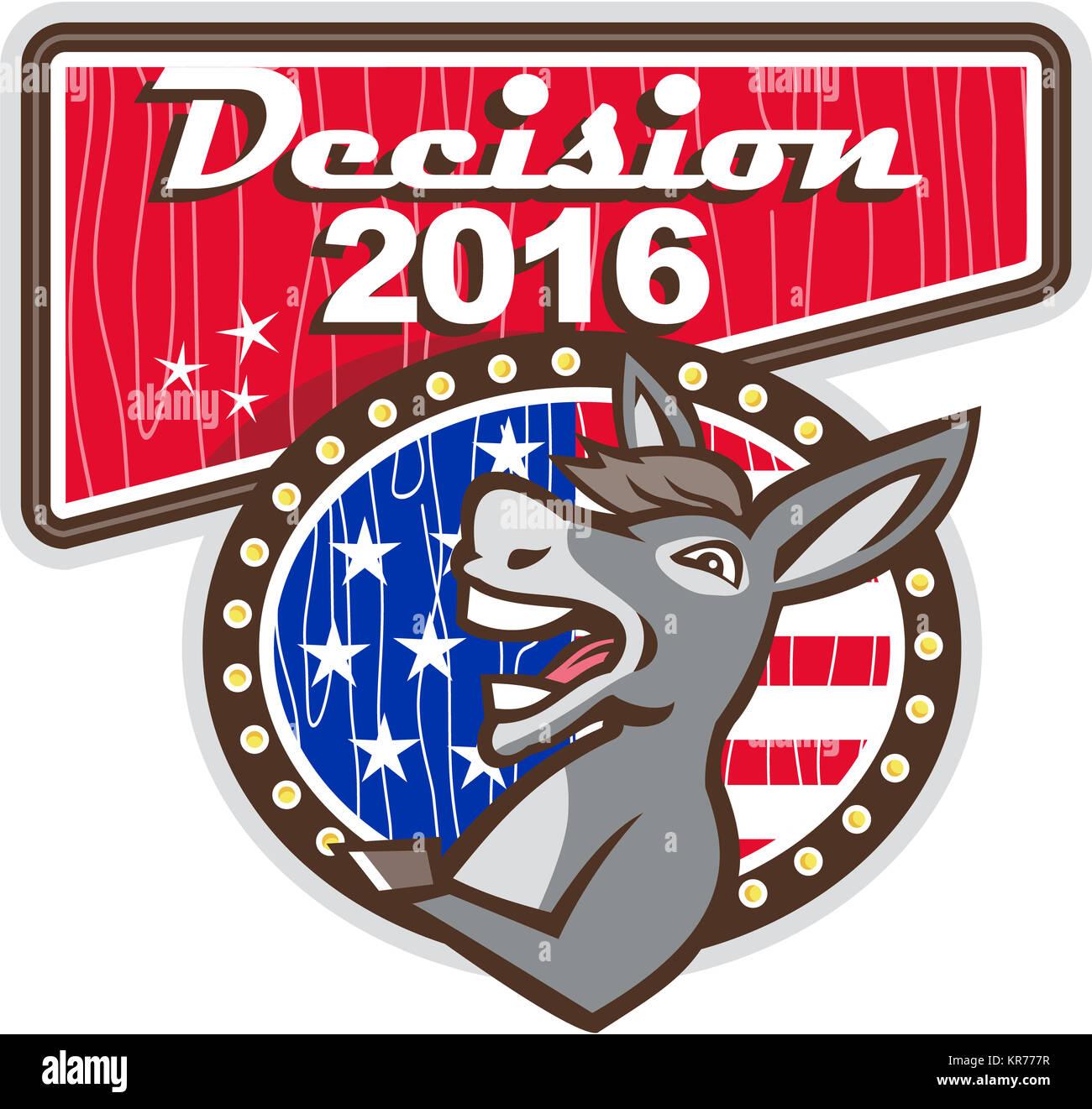 Decision 2016 Democrat Donkey - Stock Image