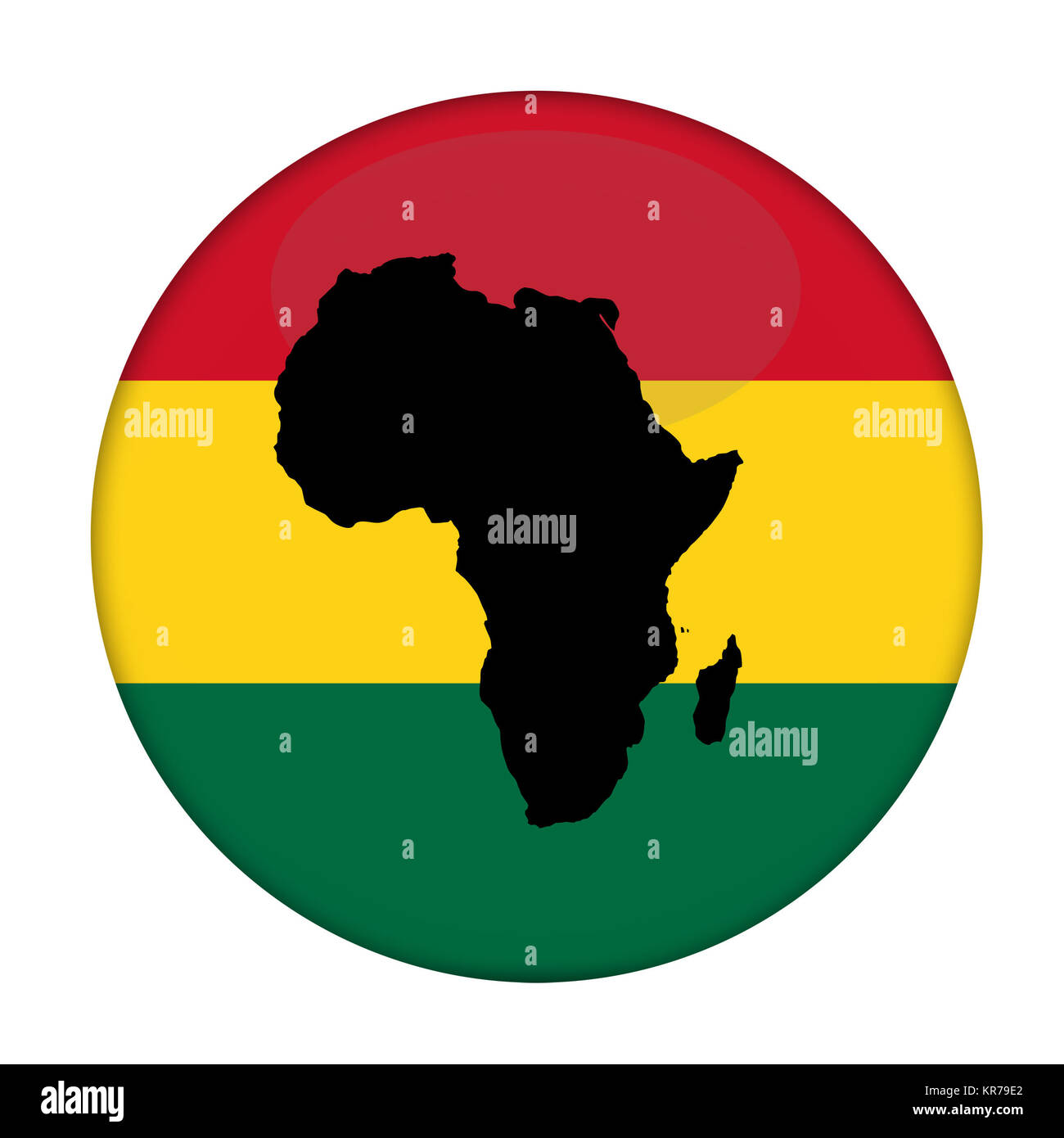 Continent Of Africa Flag Button