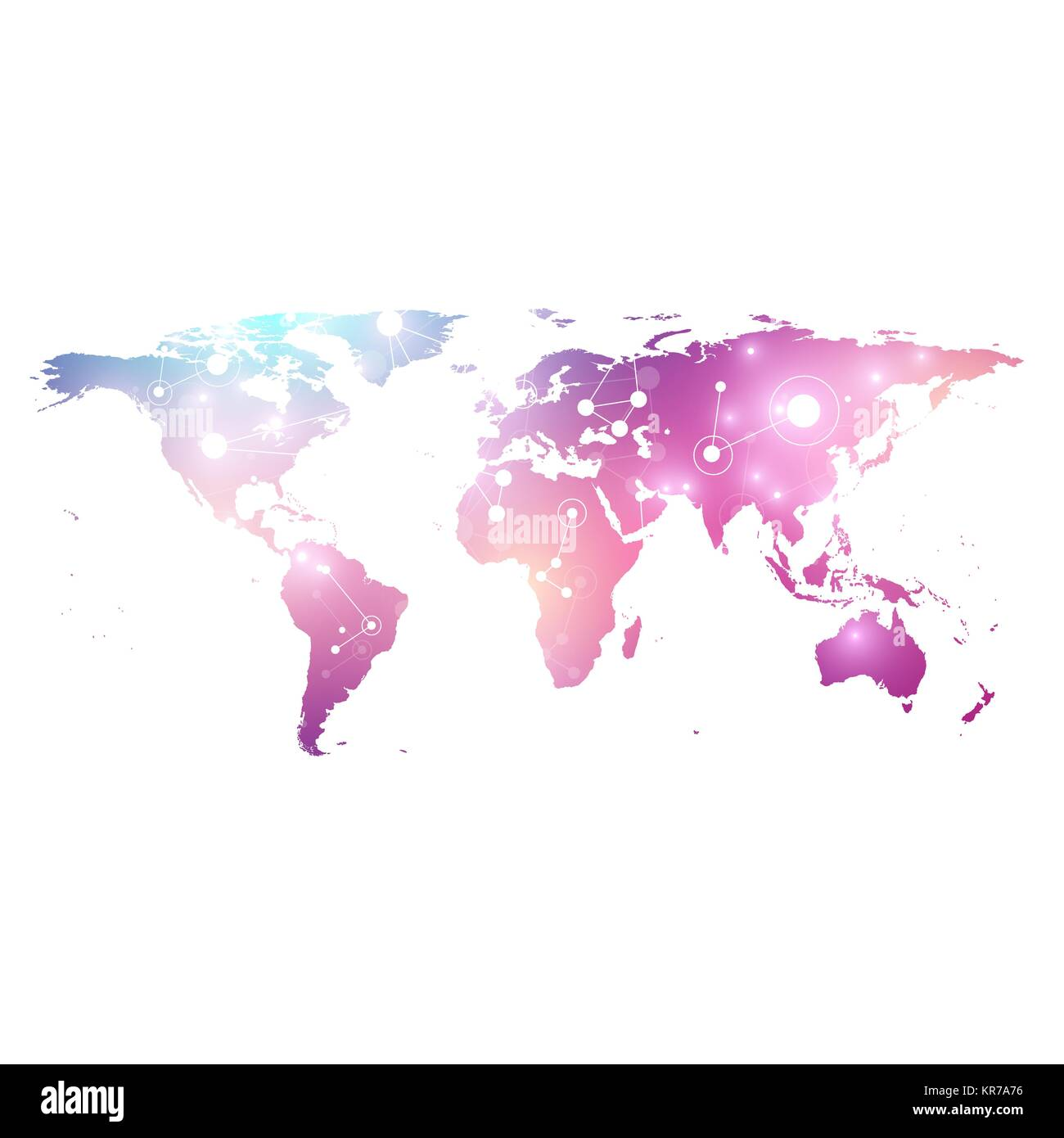 Vector template world map with global technology networking concept global network connections digital data visualization lines plexus big data background communication perspective backdrop vector template world map gumiabroncs Choice Image