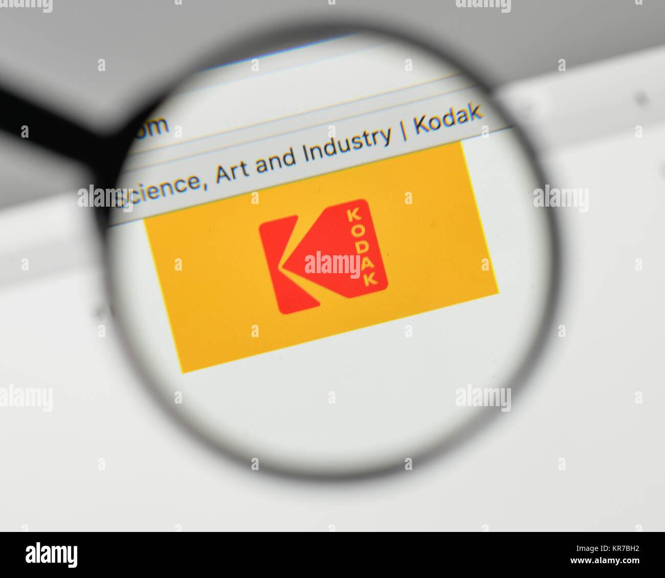 Milan, Italy - November 1, 2017: Kodak logo on the website