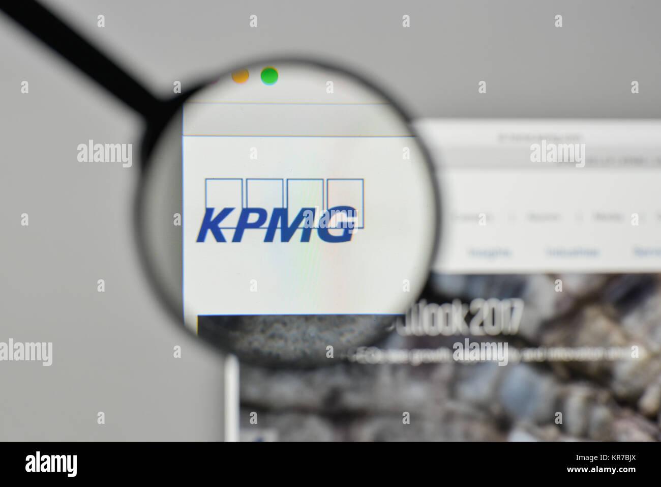 Milan, Italy - November 1, 2017: KPMG logo on the website