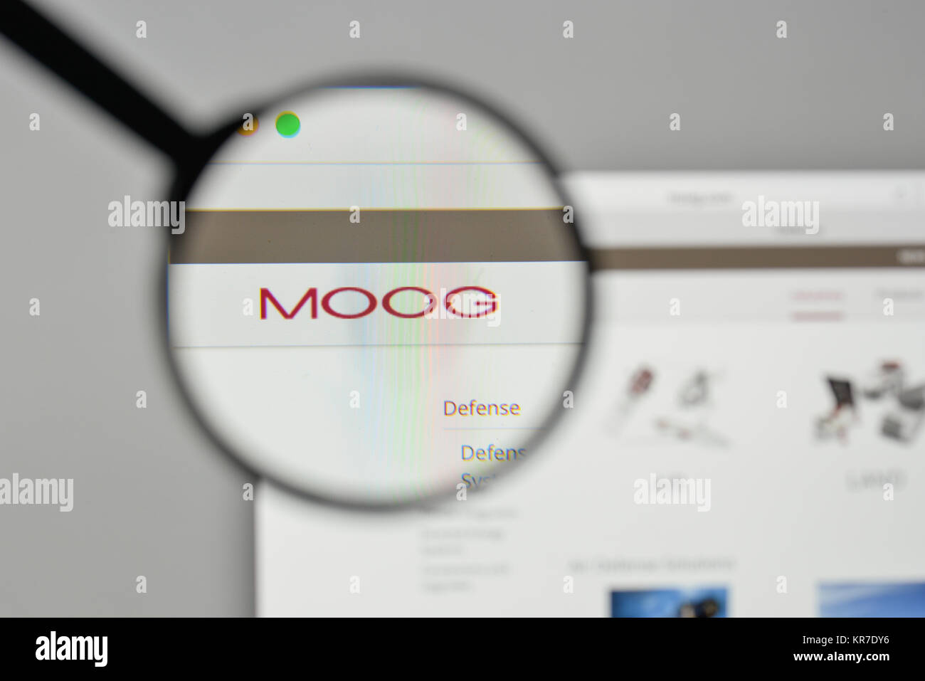 Milan, Italy - November 1, 2017: Moog logo on the website homepage. - Stock Image