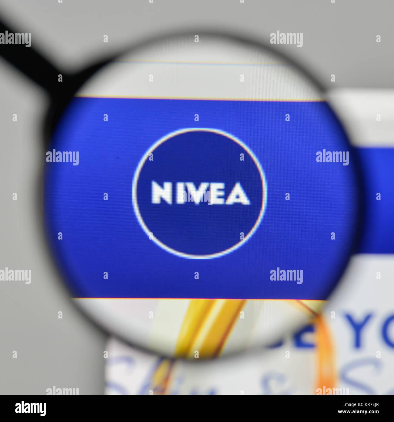 Milan, Italy - November 1, 2017: Nivea logo on the website homepage. - Stock Image