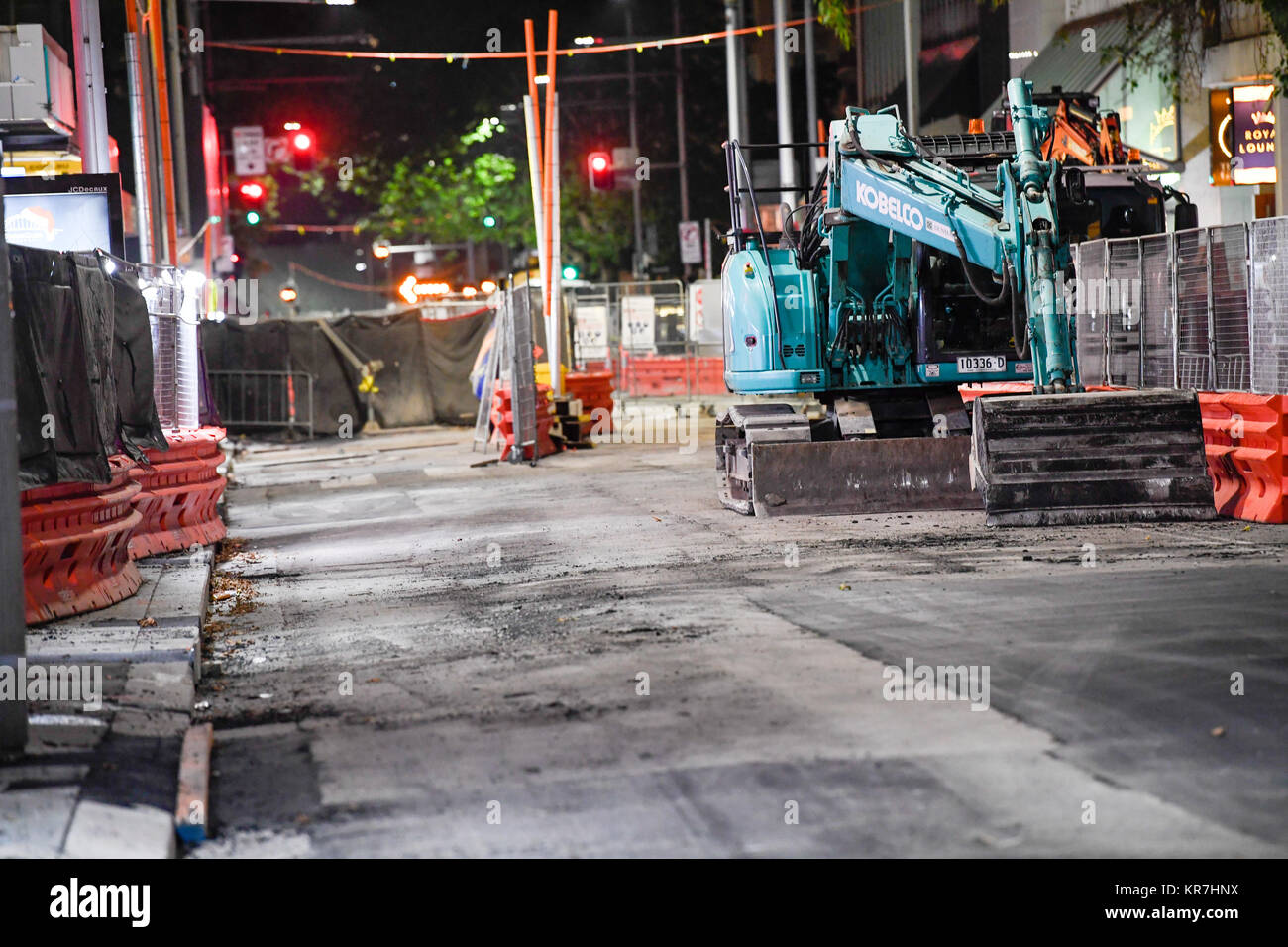Sydney, Australia - 17th December 2017: Construction site seen setup