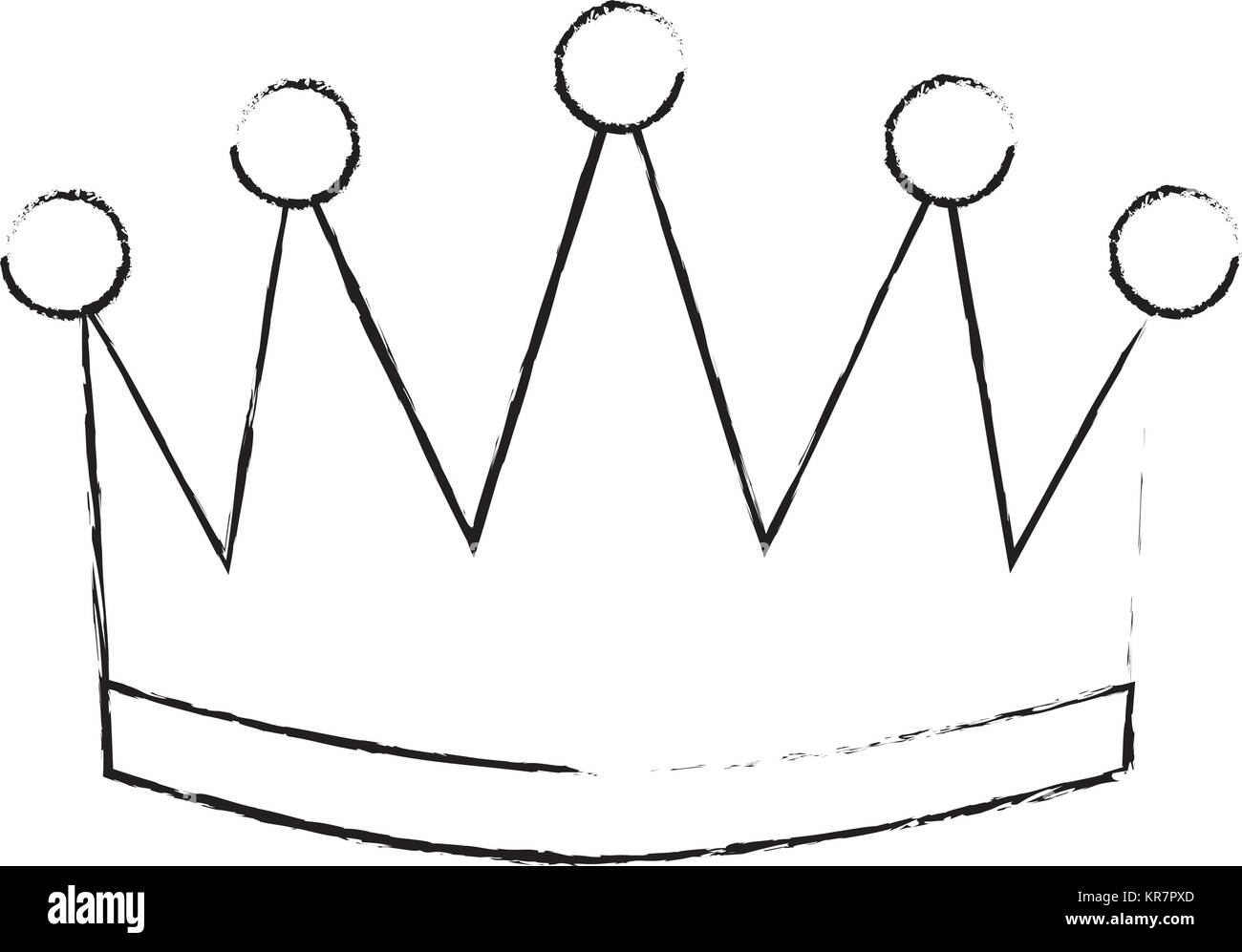 winner crown isolated icon - Stock Image