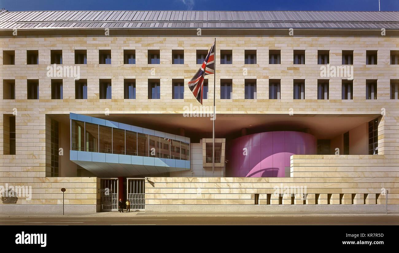 British Embassy in Berlin Stock Photo
