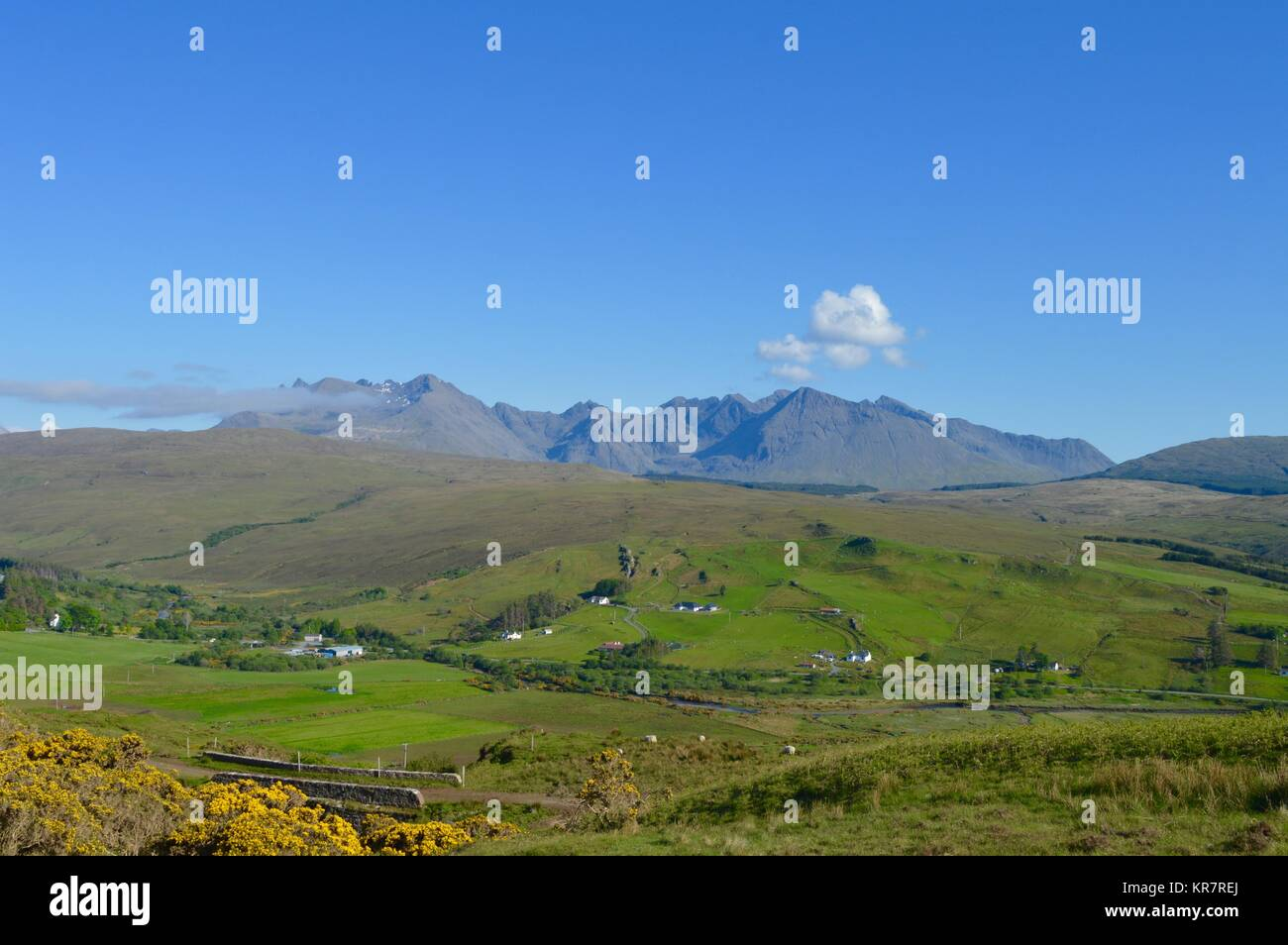 The Black Cuillin Mountain Range - Stock Image