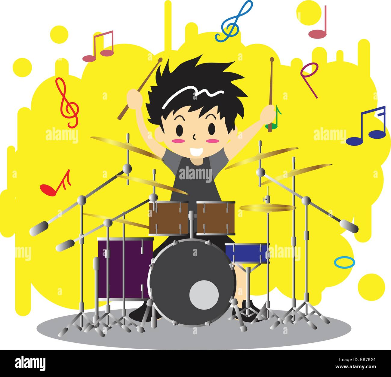 Drum Set Stock Vector Images - Alamy