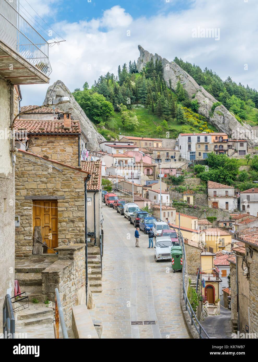 Scenic sight in Pietrapertosa, small village on the Lucanian Dolomites, province of Potenza, Basilicata, Italy. Stock Photo