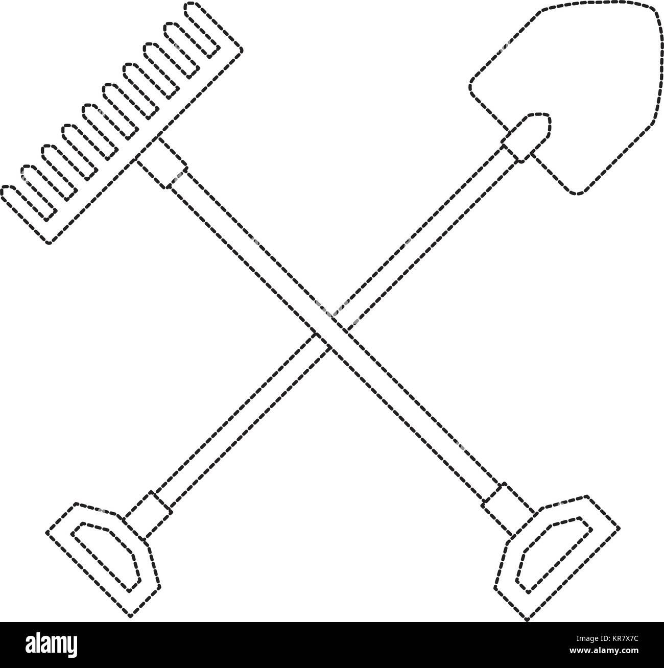 shoveling black and white stock photos images page 2 alamy Sawtooth Old Spade Shovel Flat gardening shovel with rake stock image