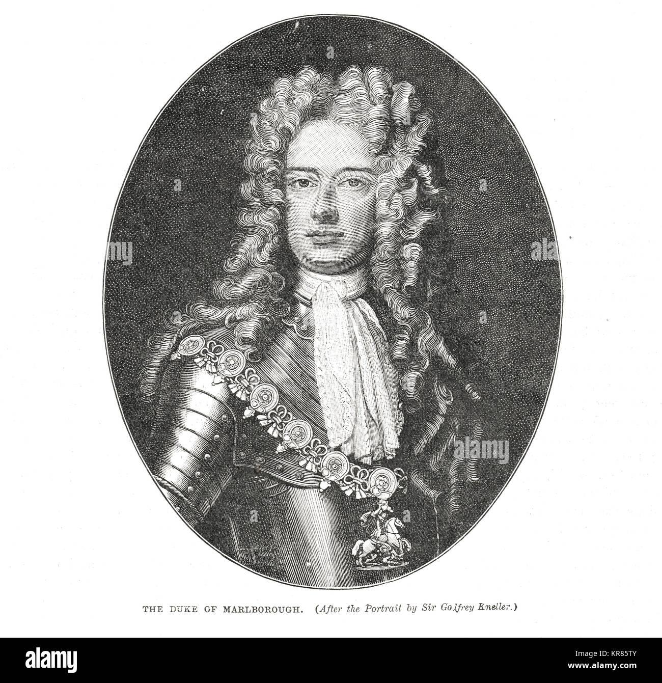 John Churchill, 1st Duke of Marlborough, 1650-1722 - Stock Image