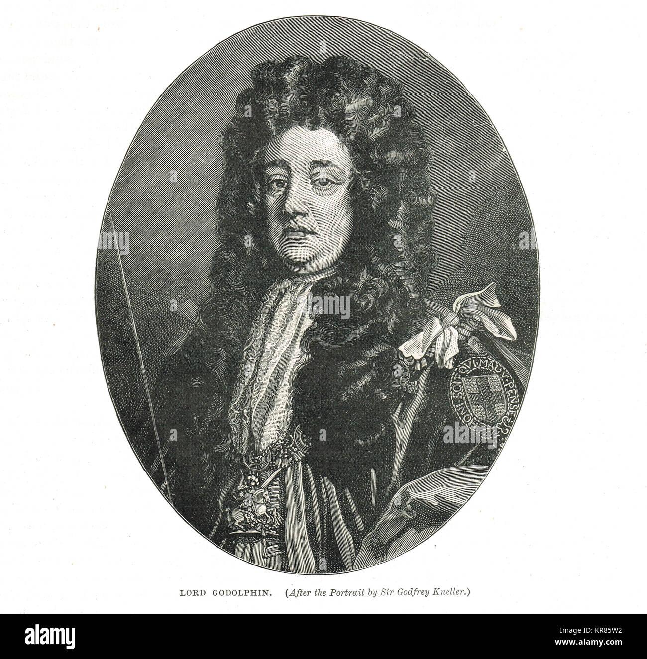Sidney Godolphin, 1st Earl of Godolphin, 1645-1712 - Stock Image