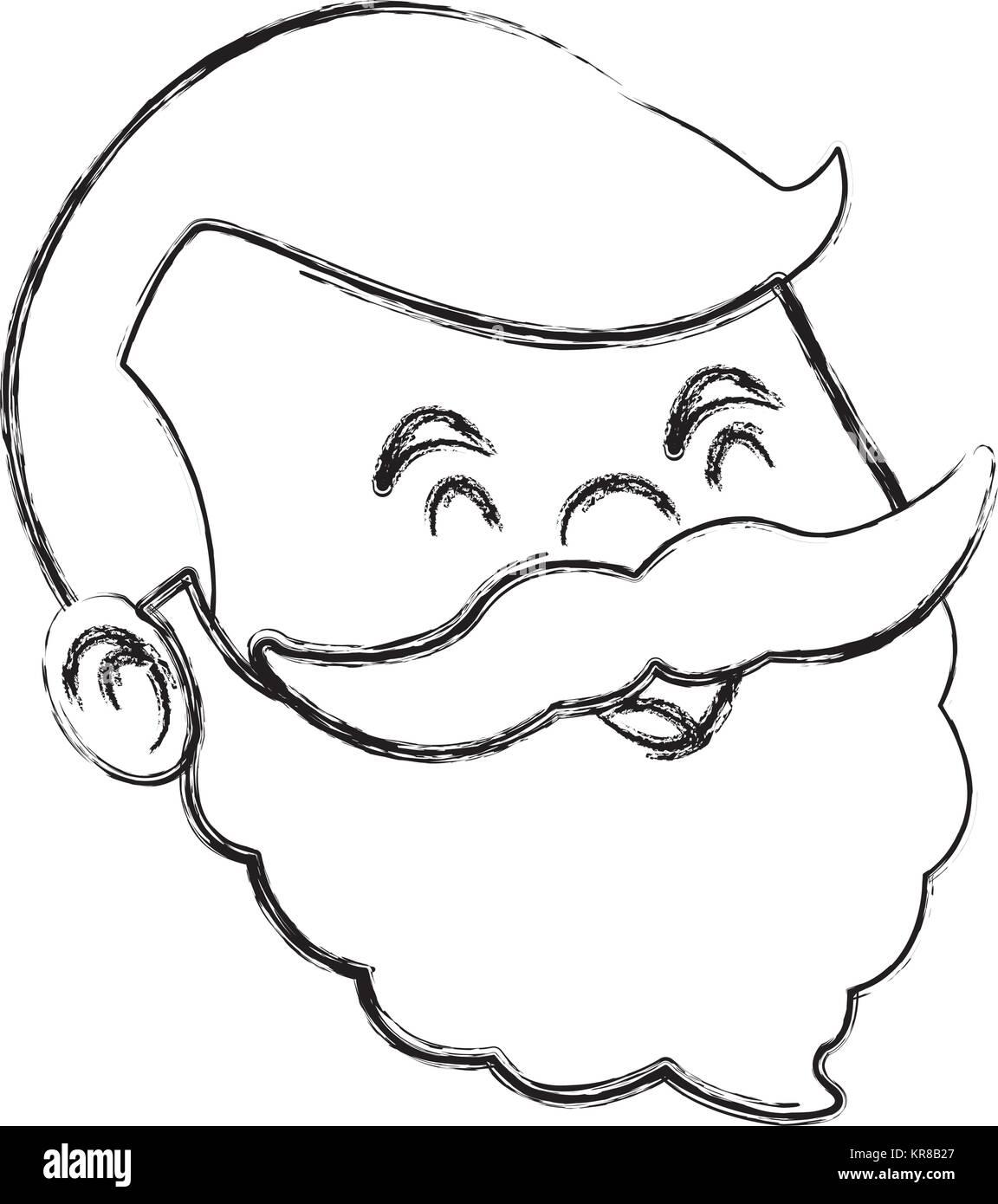Cartoon grandfather face