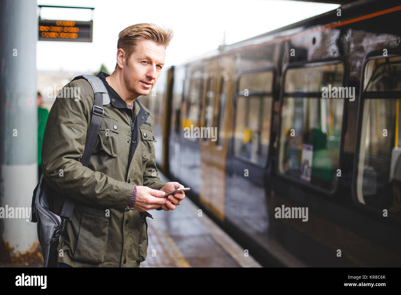 Catching the Train - Stock Image