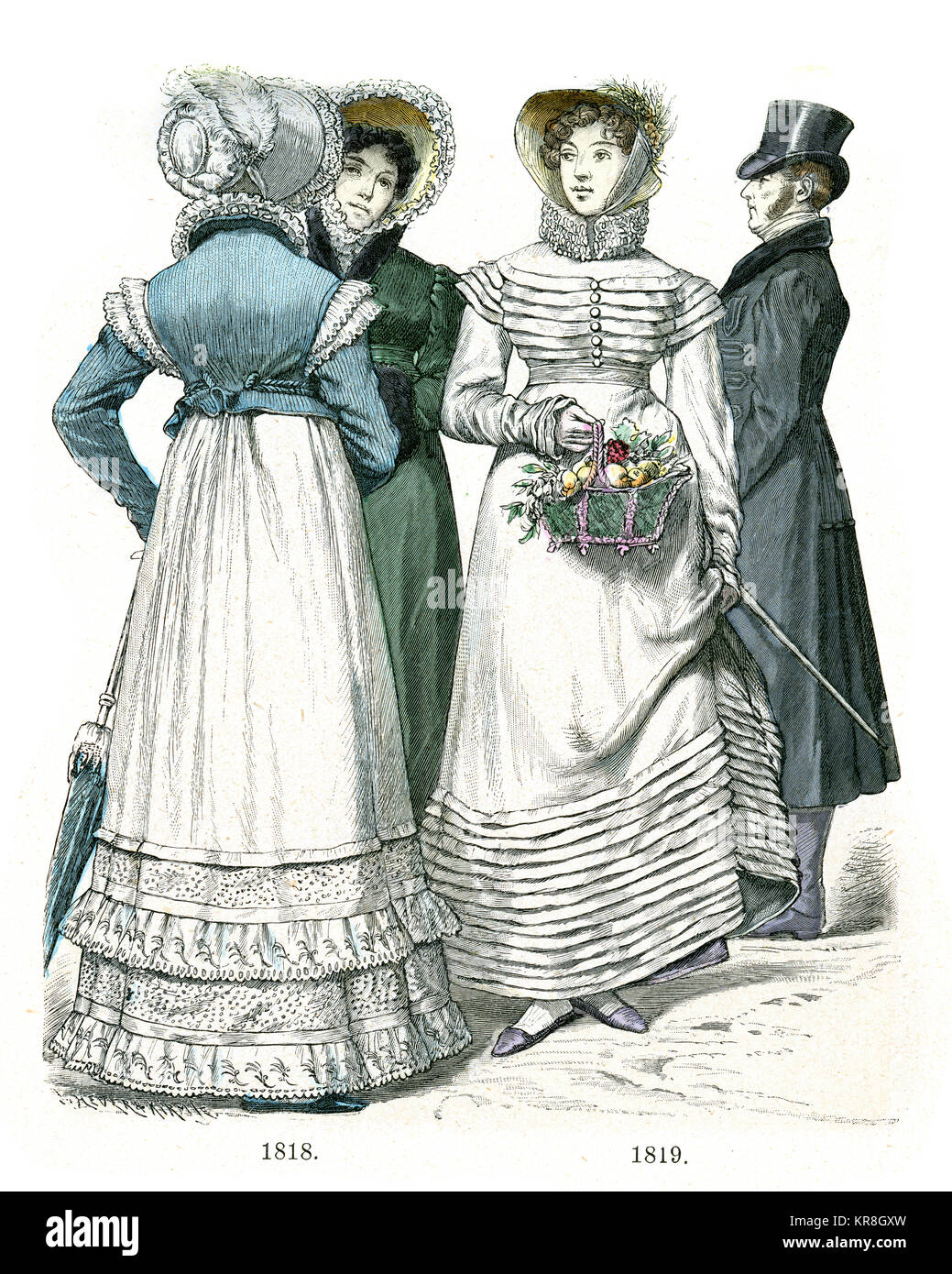Fashions of the early 19th Century - Stock Image