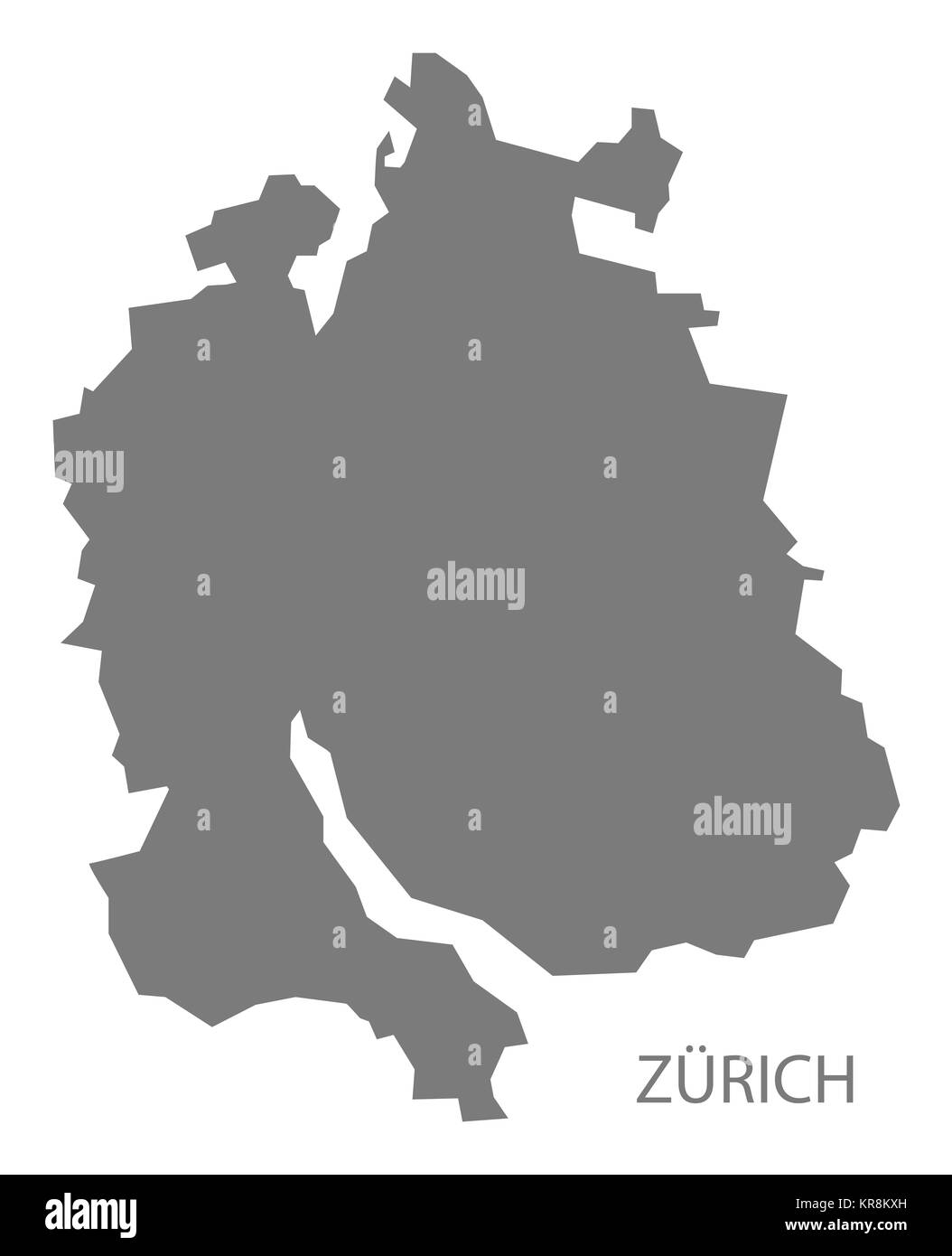 Zurich map vector stock photos zurich map vector stock images alamy zurich switzerland map grey stock image gumiabroncs Gallery