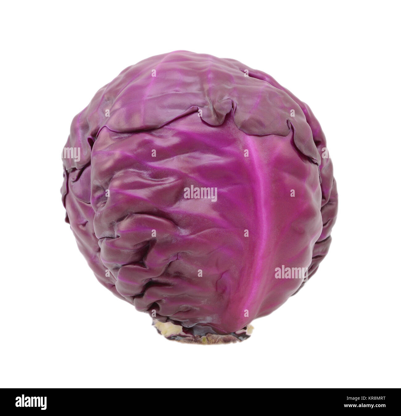 Whole raw red cabbage Stock Photo
