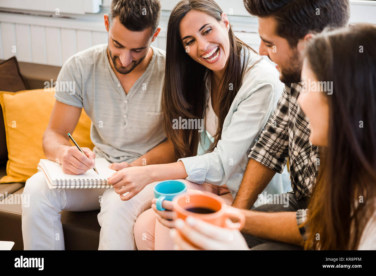 Meeting with friends - Stock Image