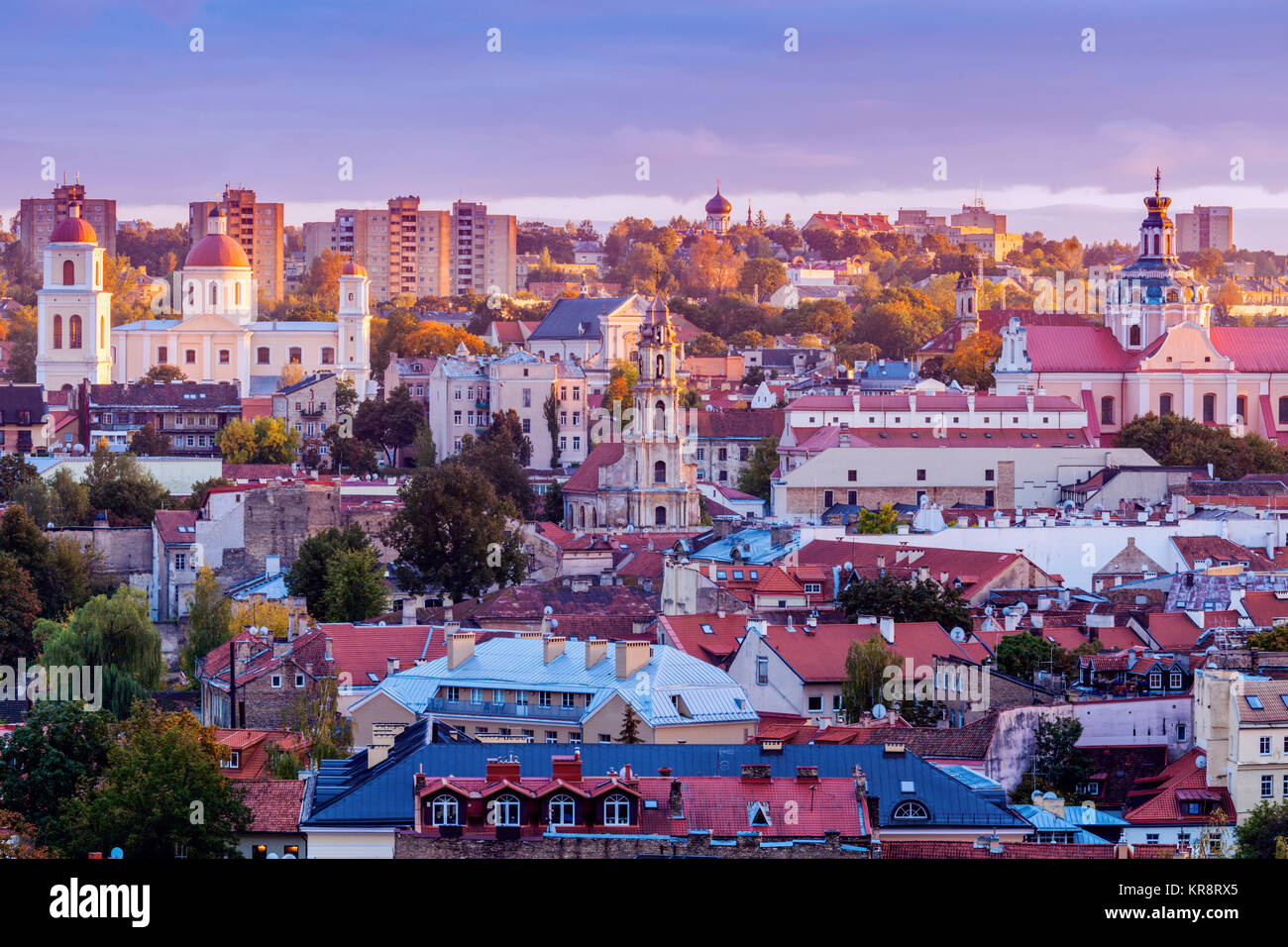 dd28b40d75 Vilnius, Lithuania, Cityscape at sunrise Stock Photo: 169224781 - Alamy