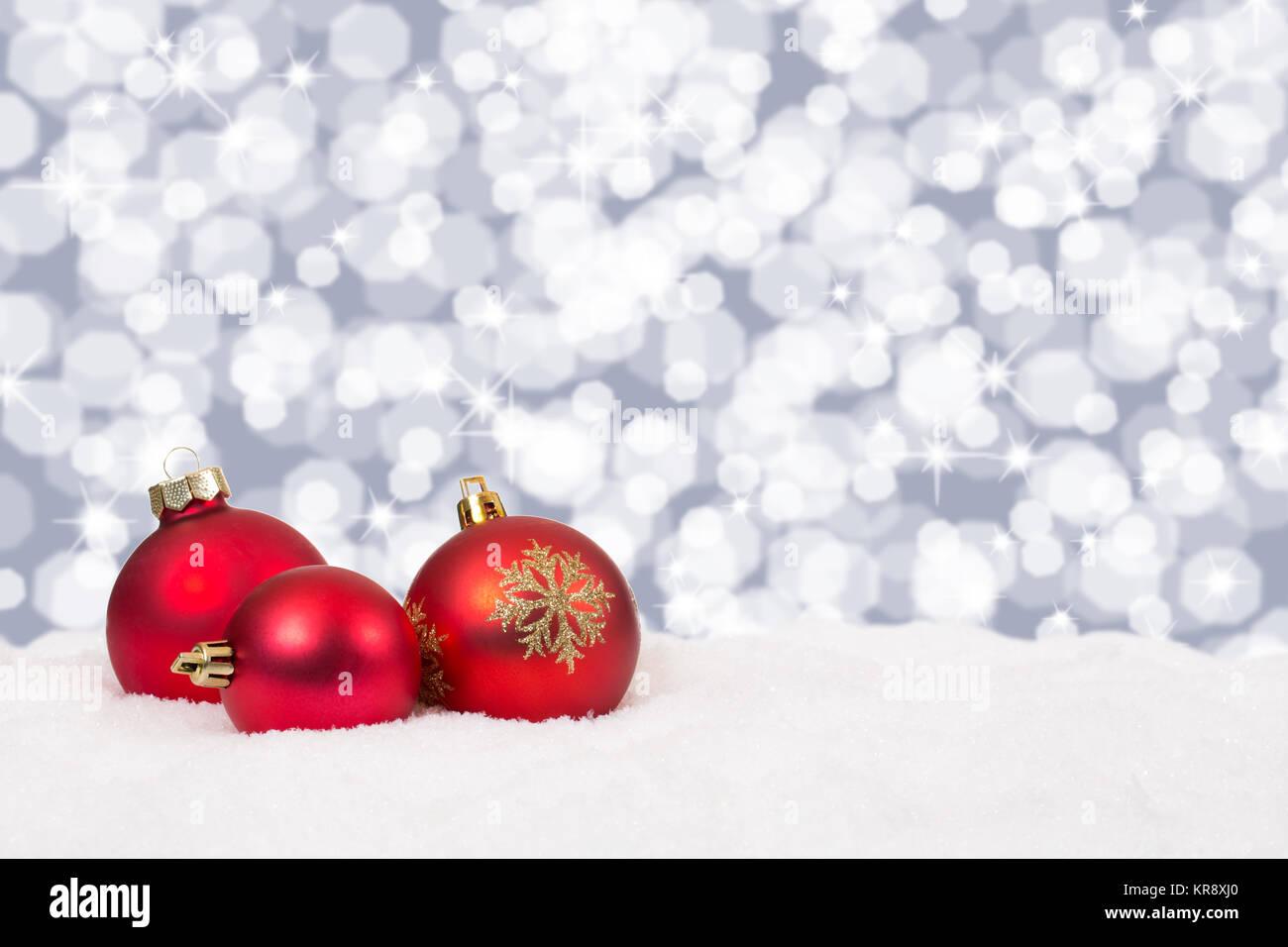 Rote Weihnachtskarten.Rote Weihnachtskugeln Weihnachten Hintergrund Weihnachtskarte Stock