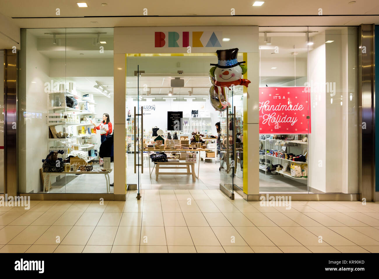 Brika craft store shopfront at Richmond-Adelaide Centre, PATH underground network, Toronto, Ontario, Canada. - Stock Image