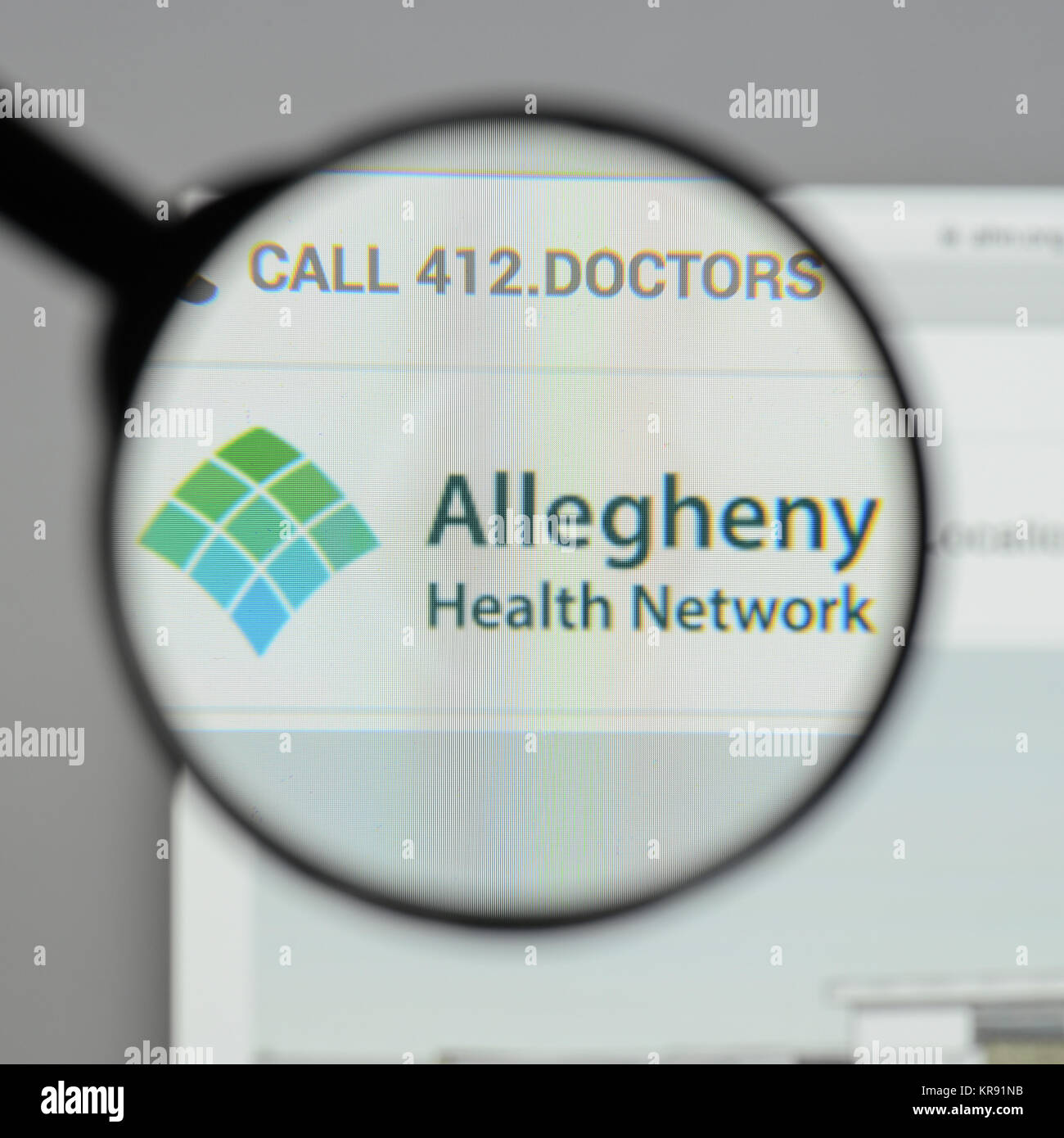 Milan, Italy - August 10, 2017: Allegheny health network