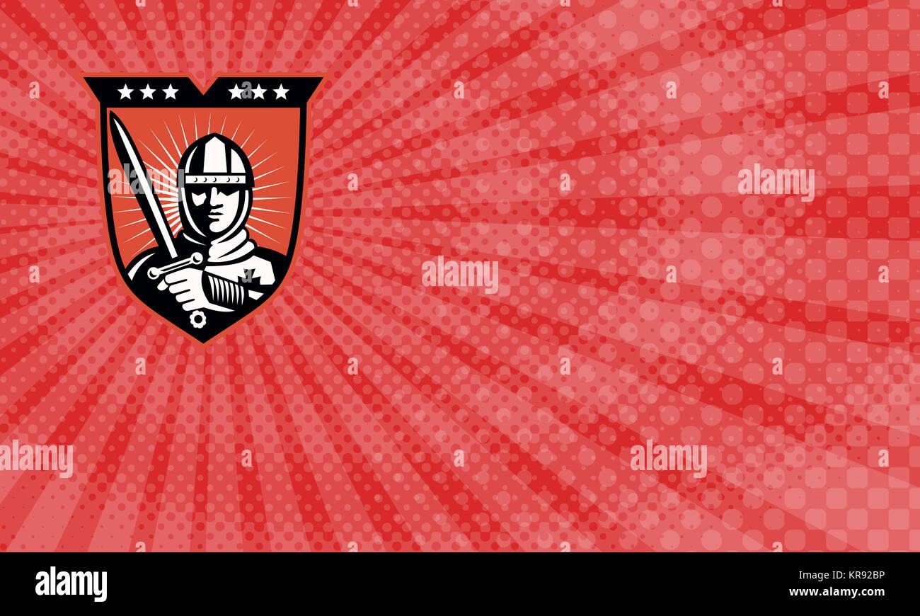 Crusader Security Business card Stock Photo: 169229866 - Alamy