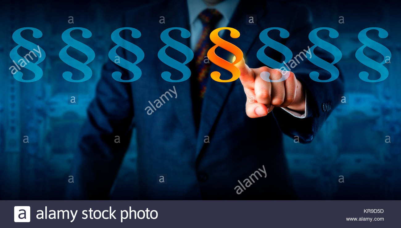Ethics Professional Highlighting A Paragraph Sign - Stock Image