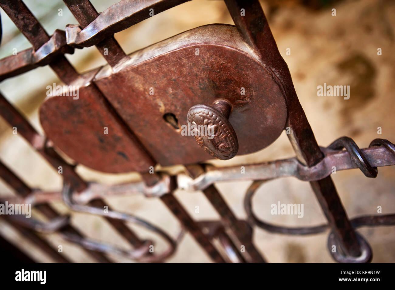 Close up of a key hole Stock Photo