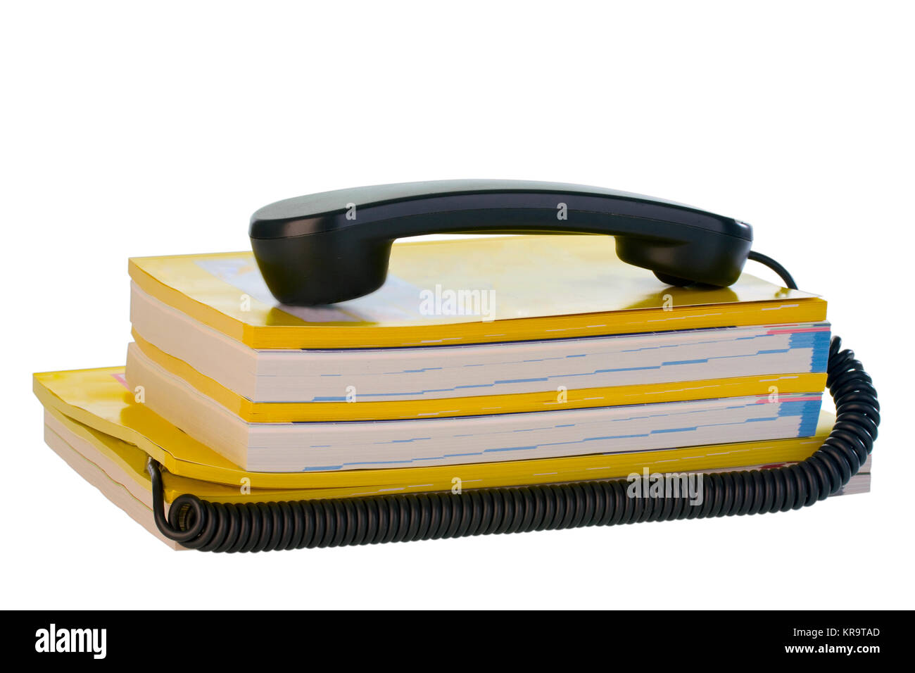 telefonhoerer with phonebook - Stock Image