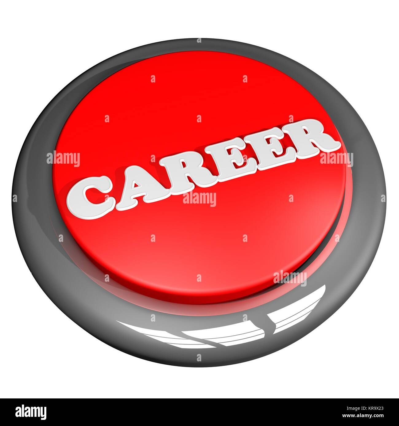 Career button isolated over white - Stock Image