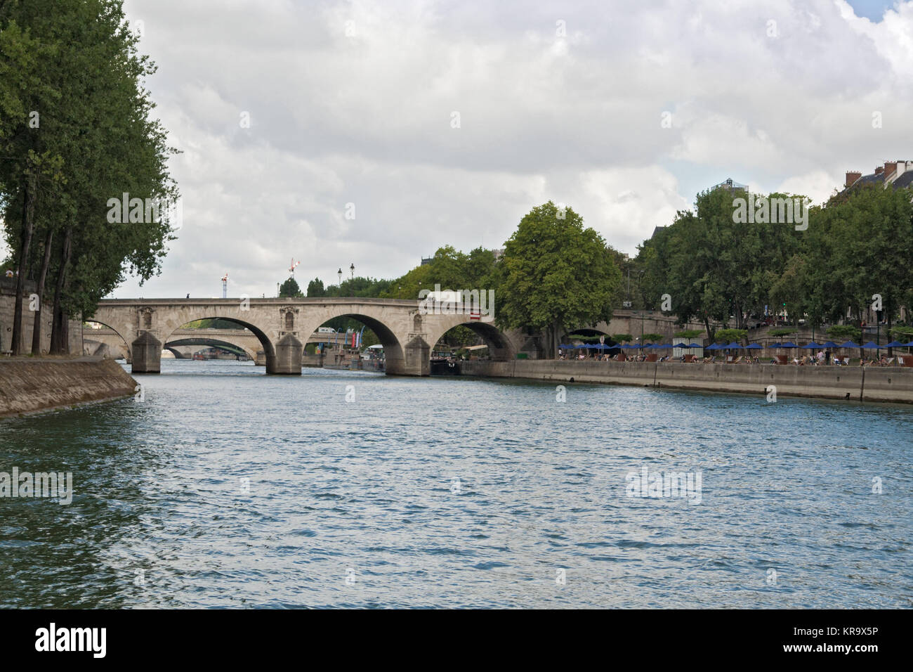 Pont Marie over the seine river in the center of Paris - Stock Image