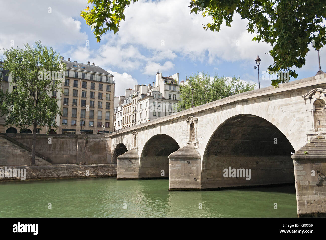 Pont Marie over the its river in the center of Paris - Stock Image