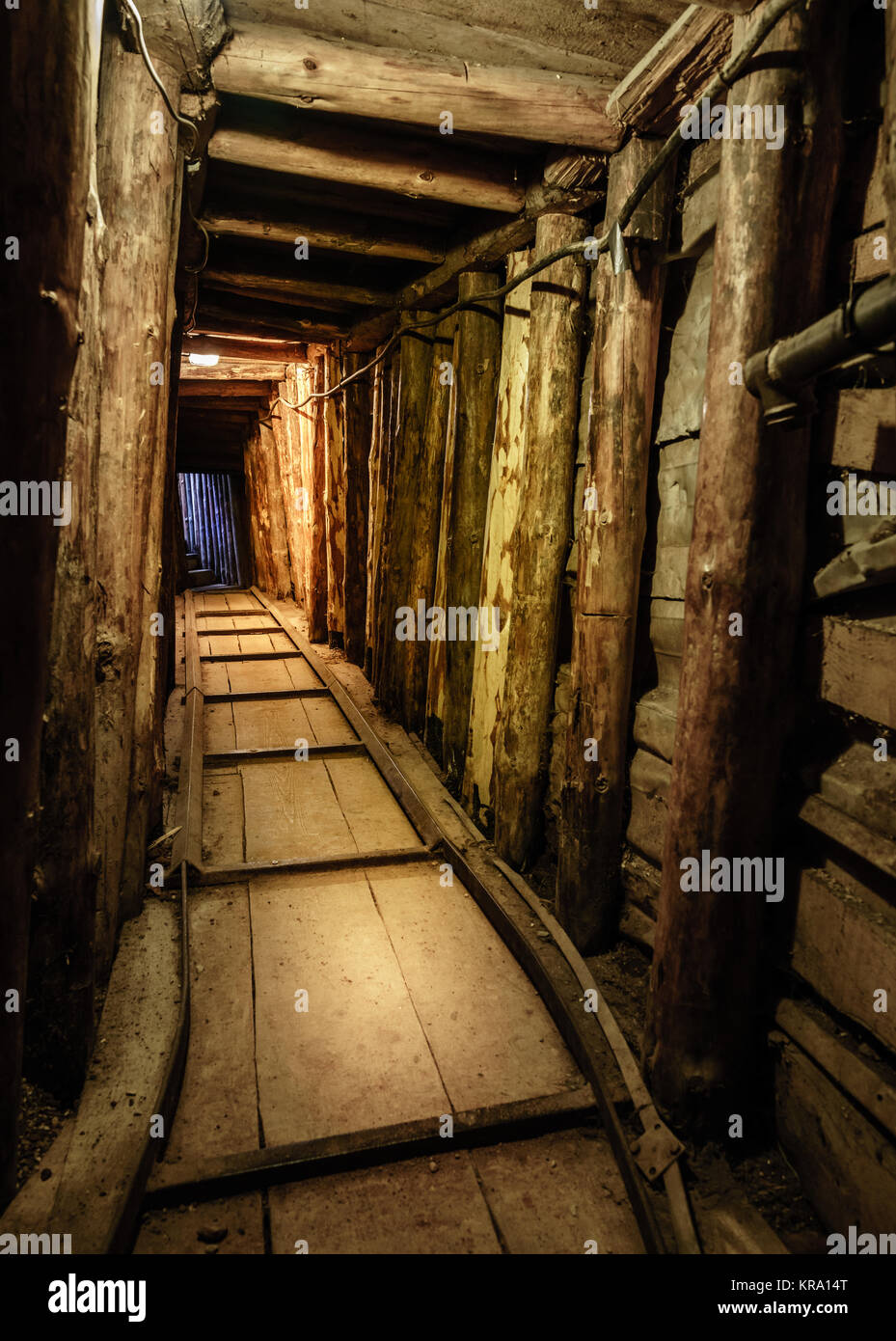 Tunnel near Sarajevo airport was used during the siege of the city in 1993-1996 - Stock Image