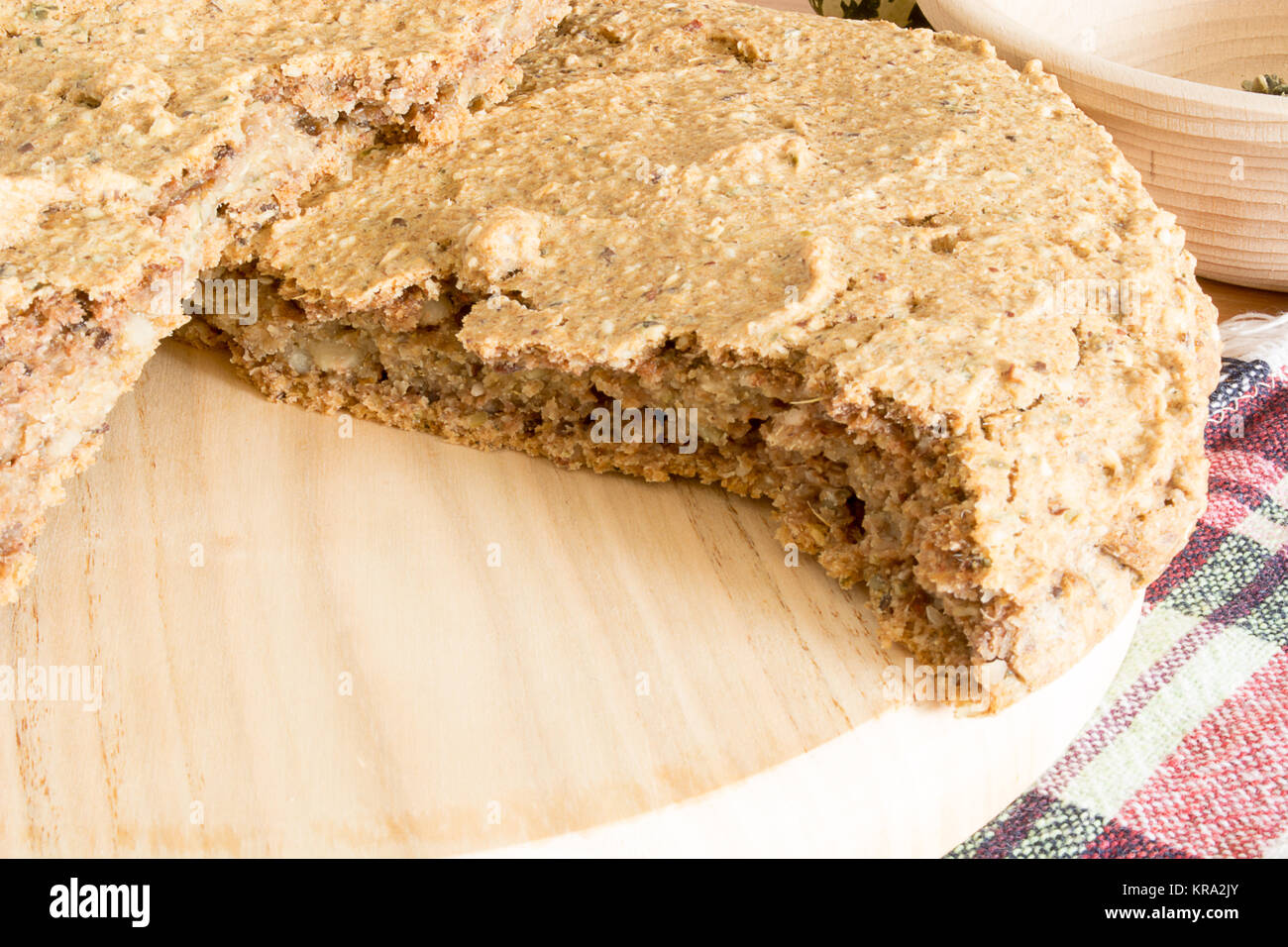 Domestic Unleavened Barley Bread Stock Photo 169252019 Alamy