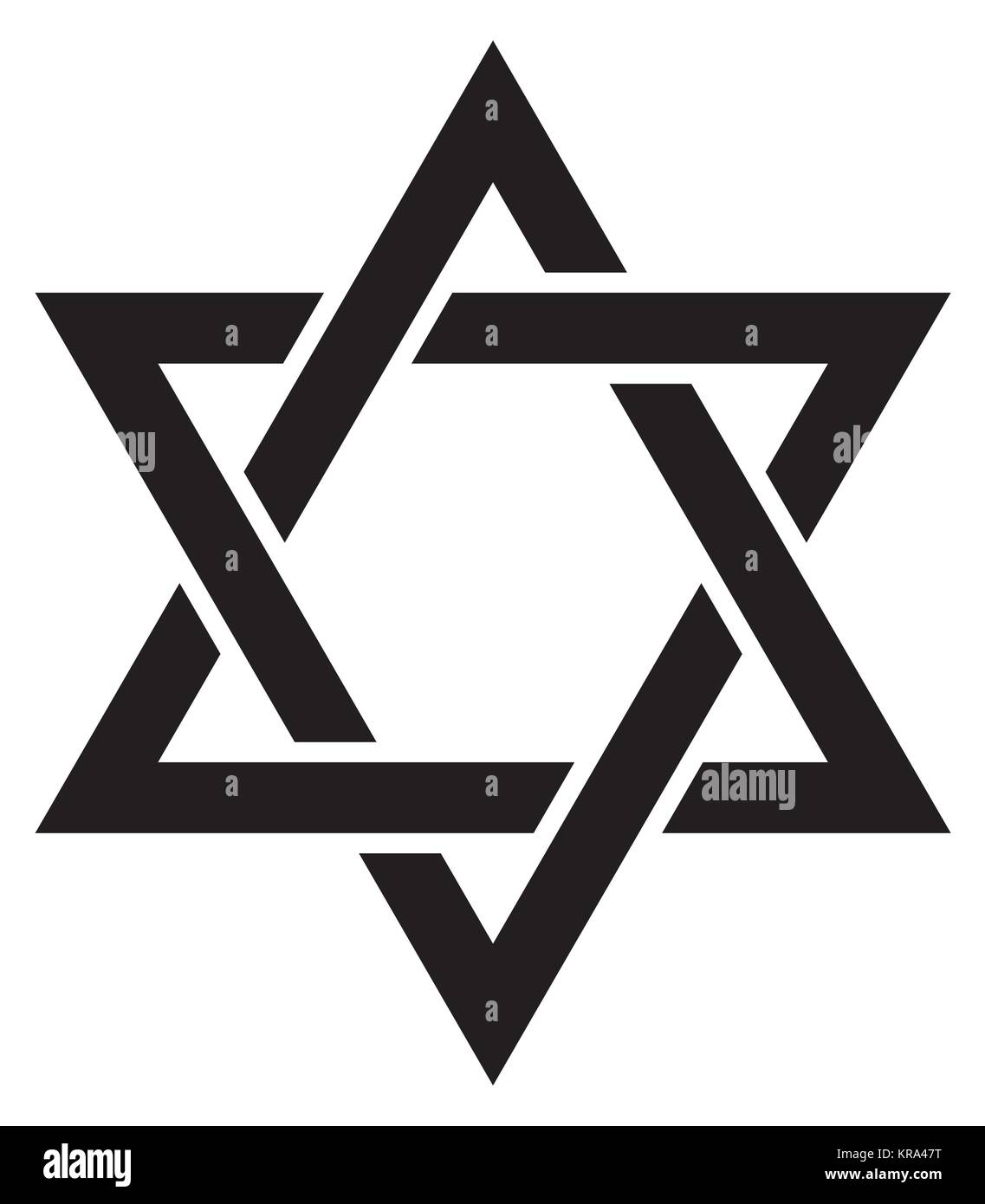 «Magen David» (The Shield of David, or The Star of David, or The Seal of Solomon), Jewish Hexagram. Hebrew - Stock Vector
