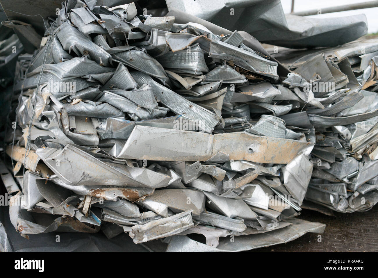 aluminum waste prepare for recycle - Stock Image