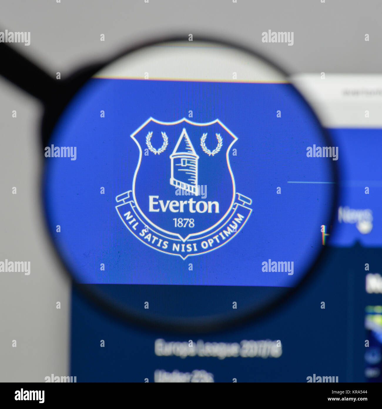 Everton Fc Logo High Resolution Stock Photography And Images Alamy