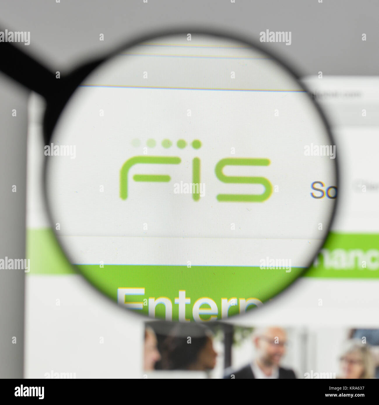 Milan, Italy - August 10, 2017: FIS logo on the website homepage. - Stock Image