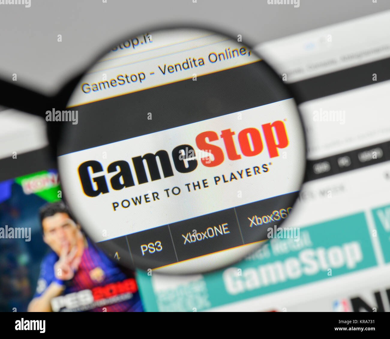 Milan Italy August 10 2017 Gamestop Logo On The Website Stock