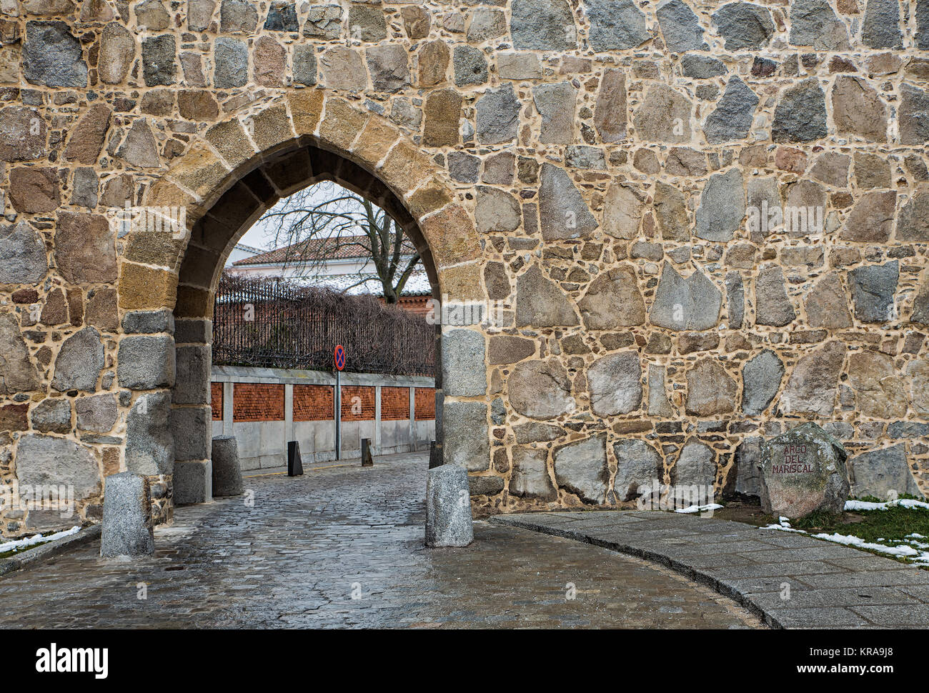 Gate in the medieval walls of Avila. Spain. - Stock Image