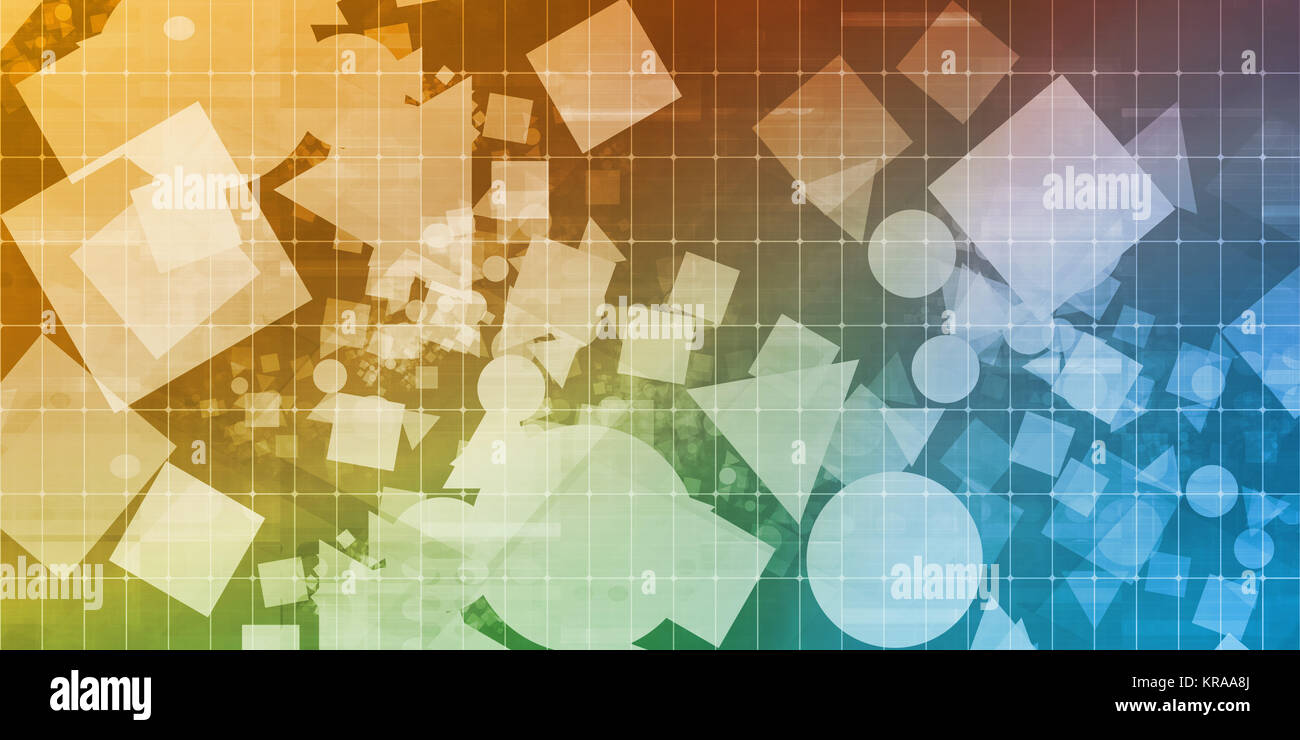 Creative Shapes Abstract - Stock Image