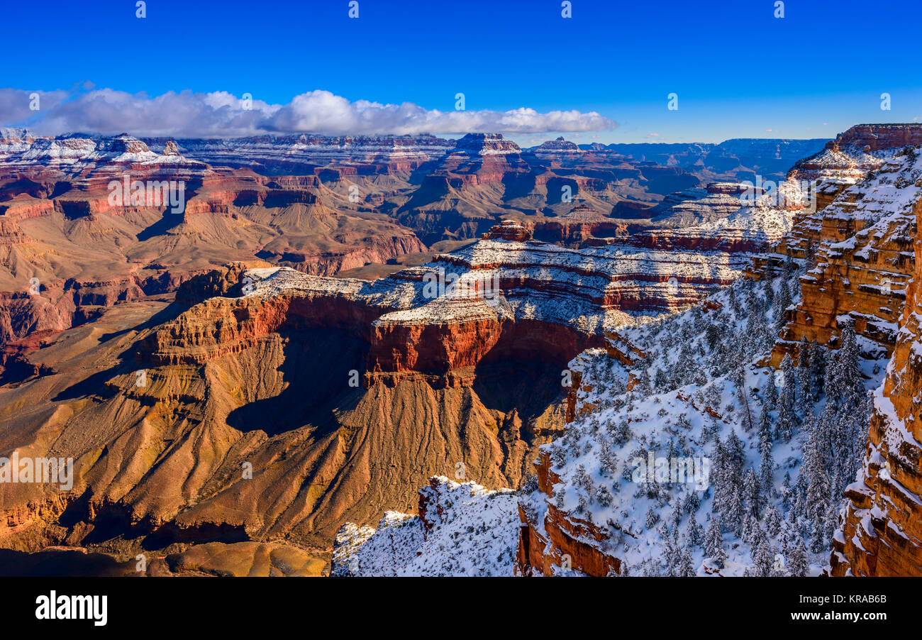 Grand Canyon National Park, South Rim at Winter, Arizona. - Stock Image